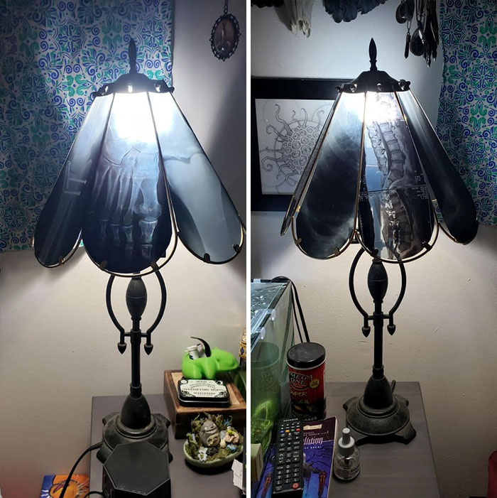 Found These Babies At A Flea Market Last Week. Secondhand Lamps With Real Xray Lampshades. They Obvs Came Home With Me
