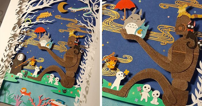 Artist Creates Intricate Paper Art Inspired By Studio Ghibli, Pop Culture, and Gaming (50 Pics)