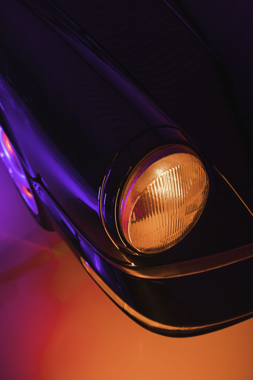 'neon' Porsche Shoot Inspired By 'Drive'