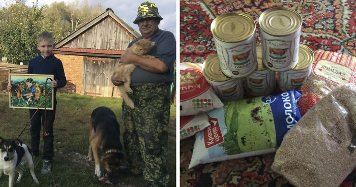 9-Year-Old Russian Boy Exchanges His Pet Paintings For Food And Supplies For Shelter Animals
