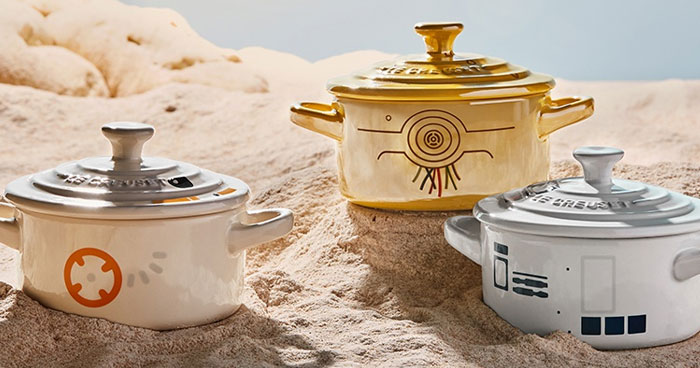 Le Creuset Is Dropping A Star Wars Cookware Line, Including The Darth Vader Dutch Oven And Millennium Falcon Trivet