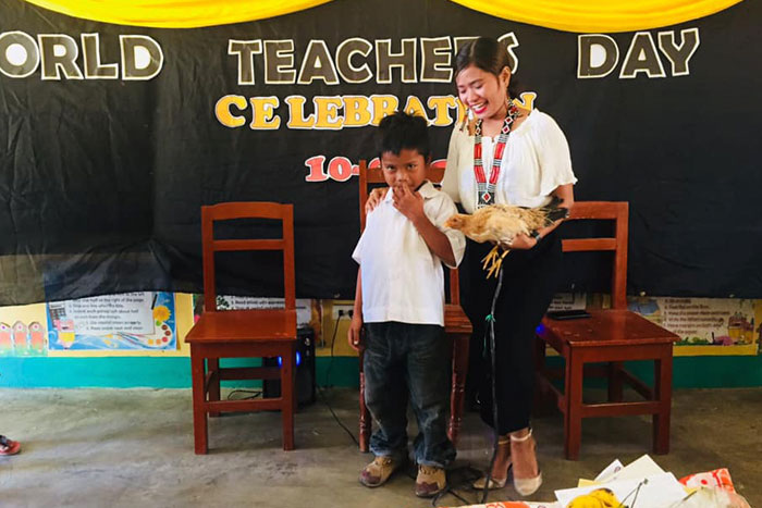This Kid Surprises His Teacher By Gifting Her An Actual Chicken For Teacher Day
