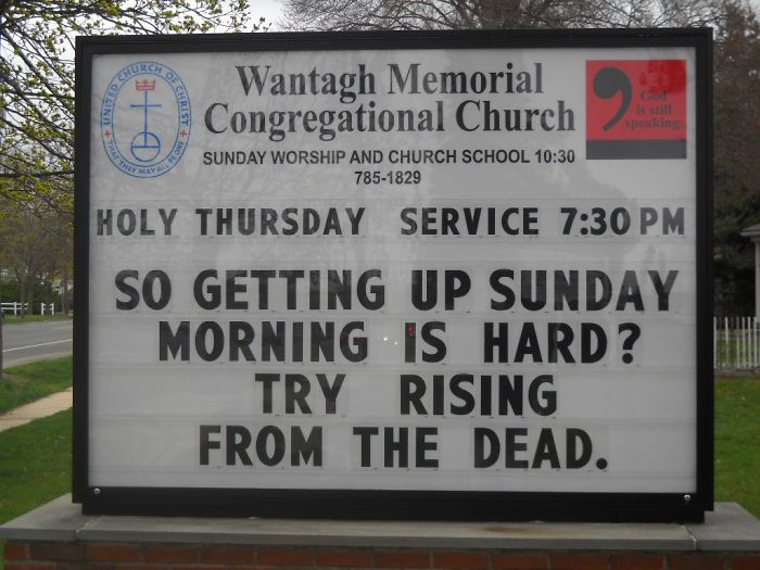 Wantagh Memorial Congregational Church Signs