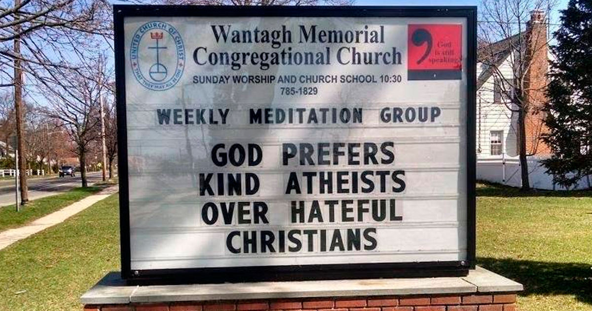 Church Is Going Viral For Its Signs That Speak About Tolerance And Kindness