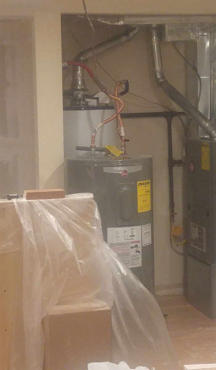 That's One Way To Replace A Water Heater