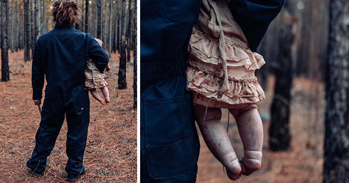 Mom Turns Her Baby Into A Zombie For A Horror Photoshoot And The Kid Absolutely Nails It