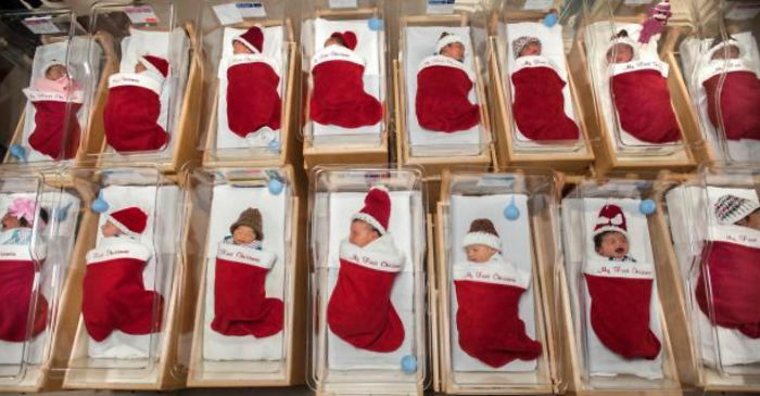 This Hospital Wins Christmas By Sending Newborns Home In Christmas Stockings For Over 50 Years Now