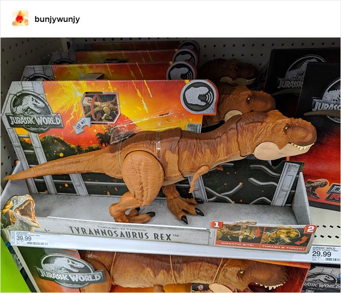 T-Rex Jurassic Park Action Figures Tyrannosaurus Rex Hunting Orange T Rex Trex