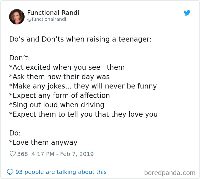 Parents-Raising-Teenagers-Tweets