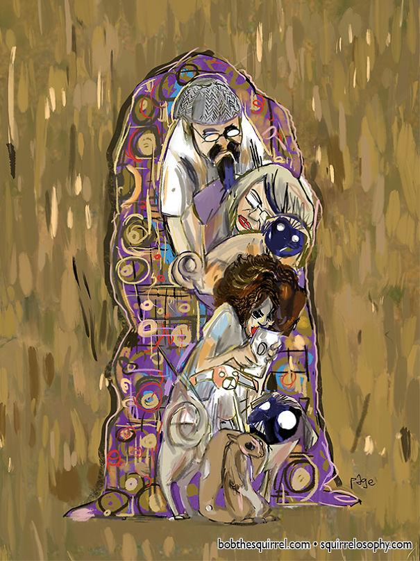 In The Style Of Viennese Artist Gustav Klimt