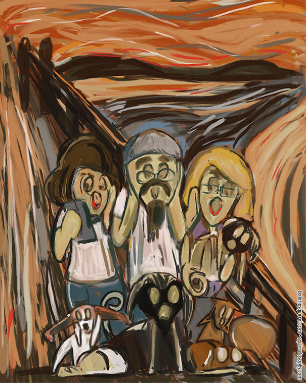 In The Style Of Artist Edvard Munch