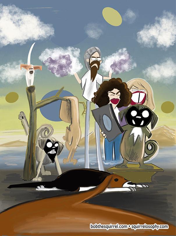In The Style Of Surrealist Salvador Dali