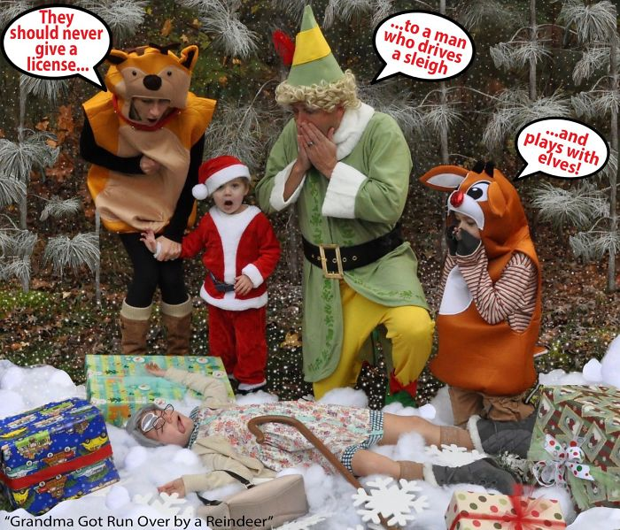 Oh No! Grandma Got Run Over By A Reindeer! Santa Can't Believe He Did That.