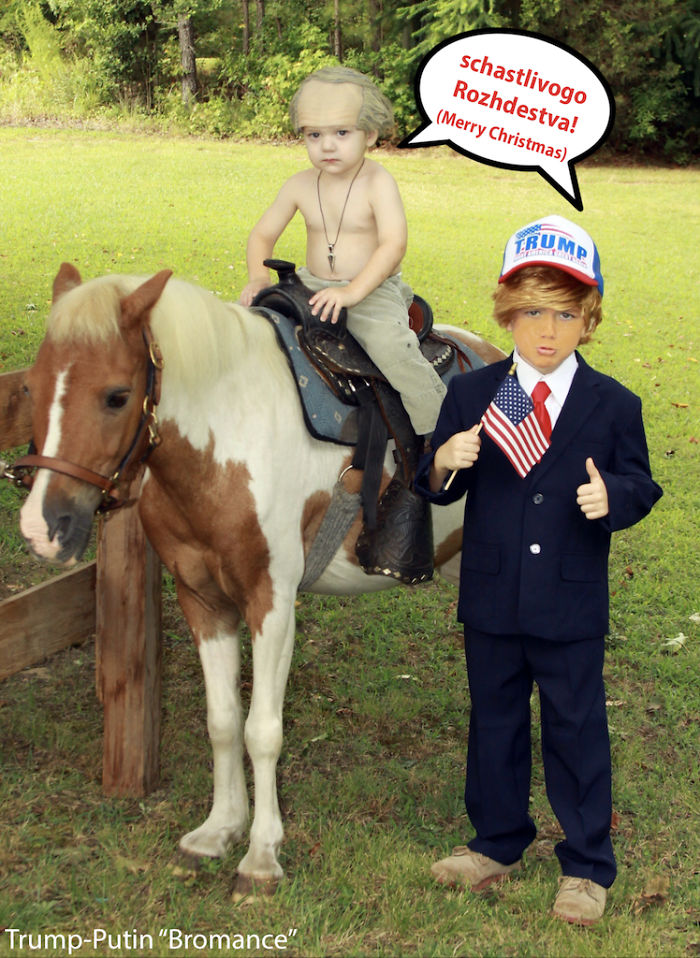 Our Sons – We Wanted To Put Trump On The Horse Too But He Was Too Heavy!