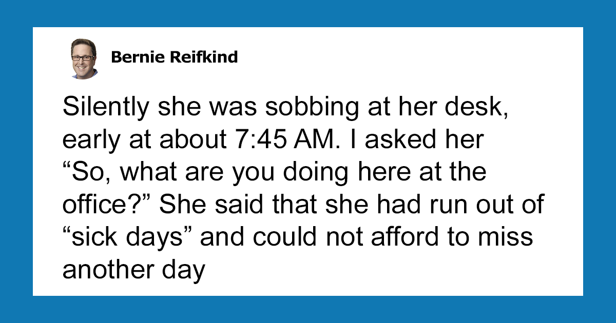 Boss Notices His Employee Sobbing At Her Desk, And His Act Of Kindness Turns Her Into The Best Employee
