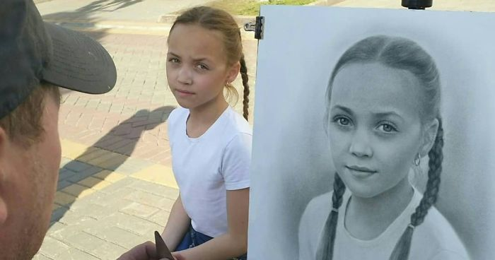 Russian Street Artist Draws Realistic Portraits In One Hour (46 Pics)