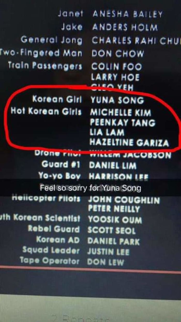 Imagine Getting Your Name Excluded Like This In A Movie Credit Scene