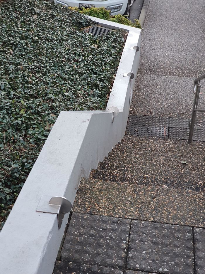 What Are These Circular Metal Things On These Stairs? I Just Hit My Knee And Goddamn Did It Hurt