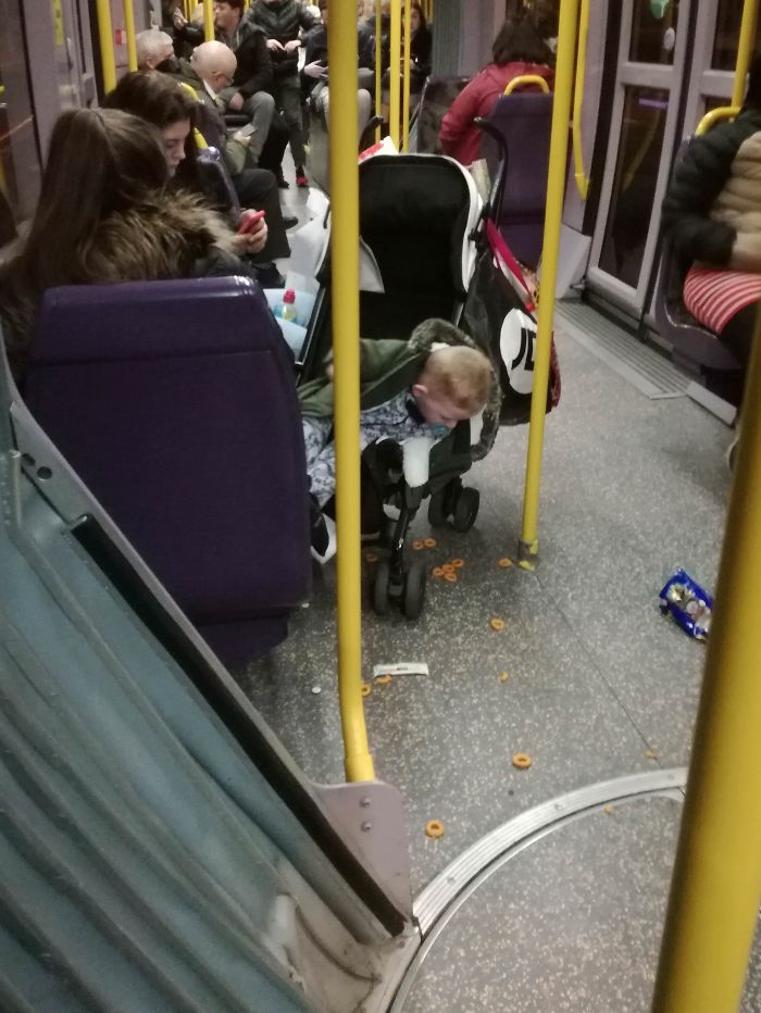 Sat Near Two Women Who Let Their Toddler Throw Food Around In Public Transport