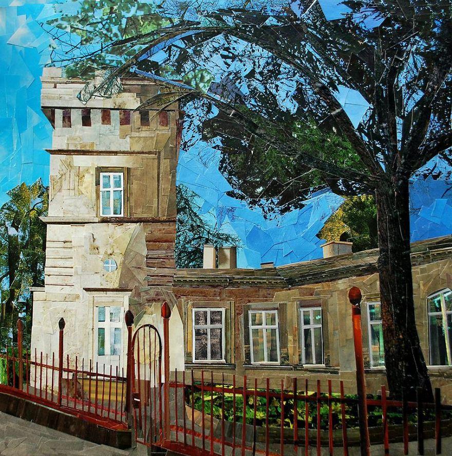"""Lasocki Palace"", 40x40 cm"