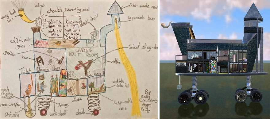 We Asked Kids To Describe Their Dream Houses And Made Them In 3D Then Evaluated Their Worth (16 Pics)