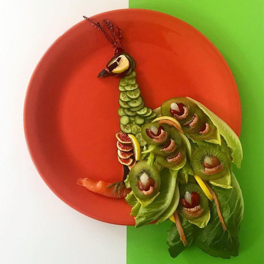 Mr. Peacock Salad