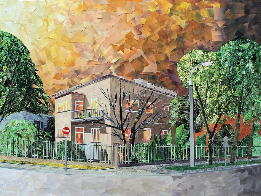 """White Road"", 73x92 cm"