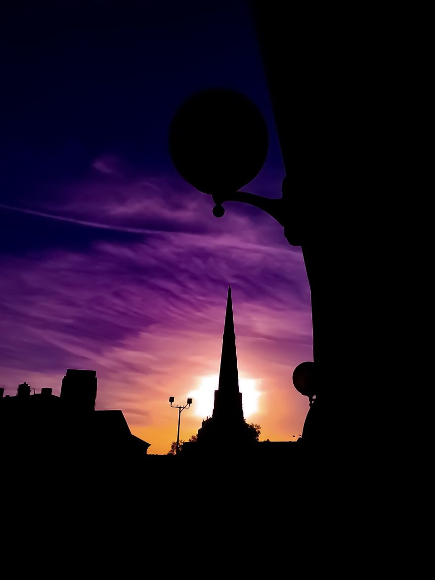 Sunset And Heavenly Silhouettes