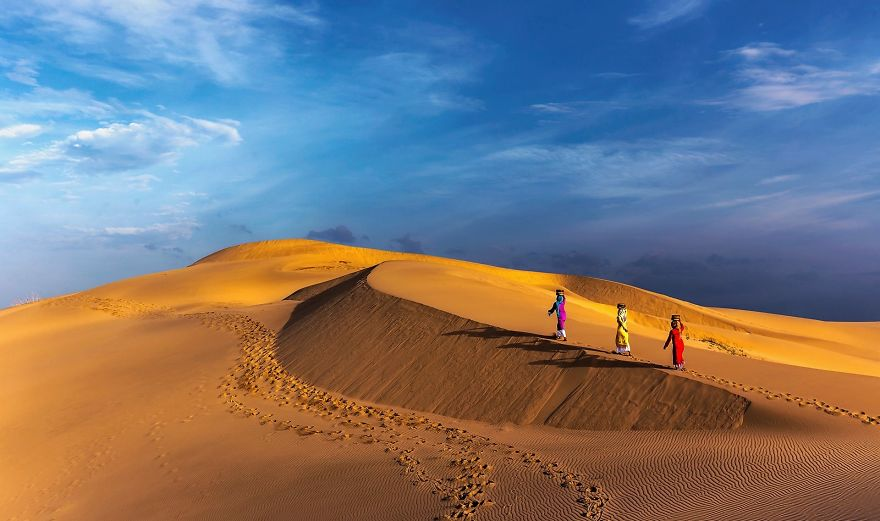Dawn In Nam Cuong Sand Dunes