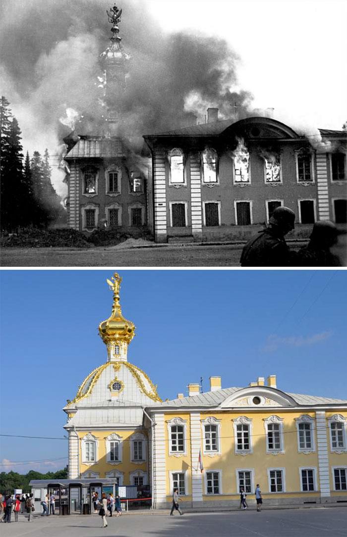 Burning Peterhof