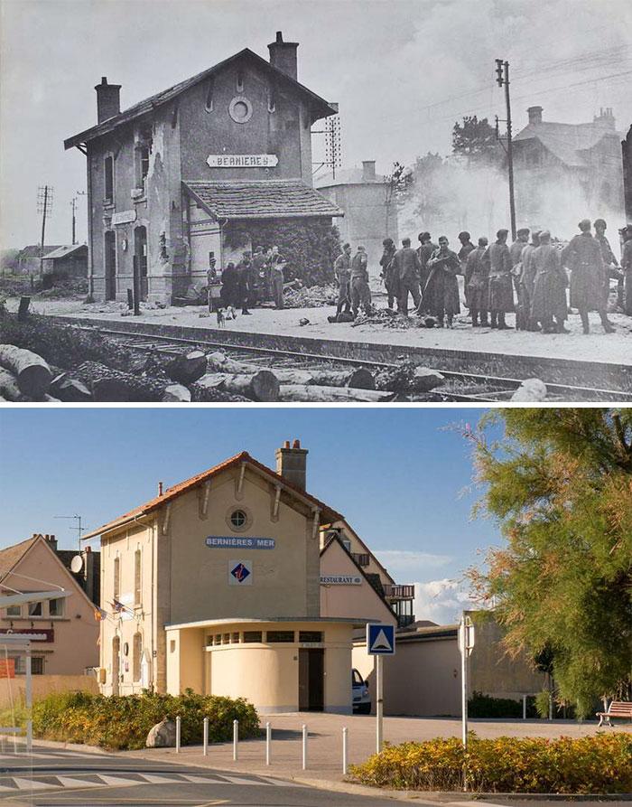 German Prisoners At The Station In Bernières