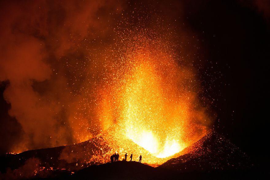 Fiery Night Landscape