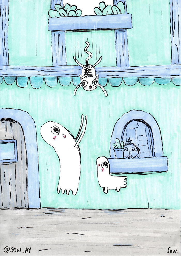 I Draw The Adventures Of A Little Ghost And His Cute Dog