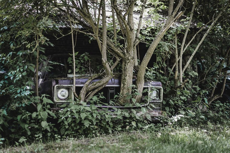 Abandoned Car In Belgium