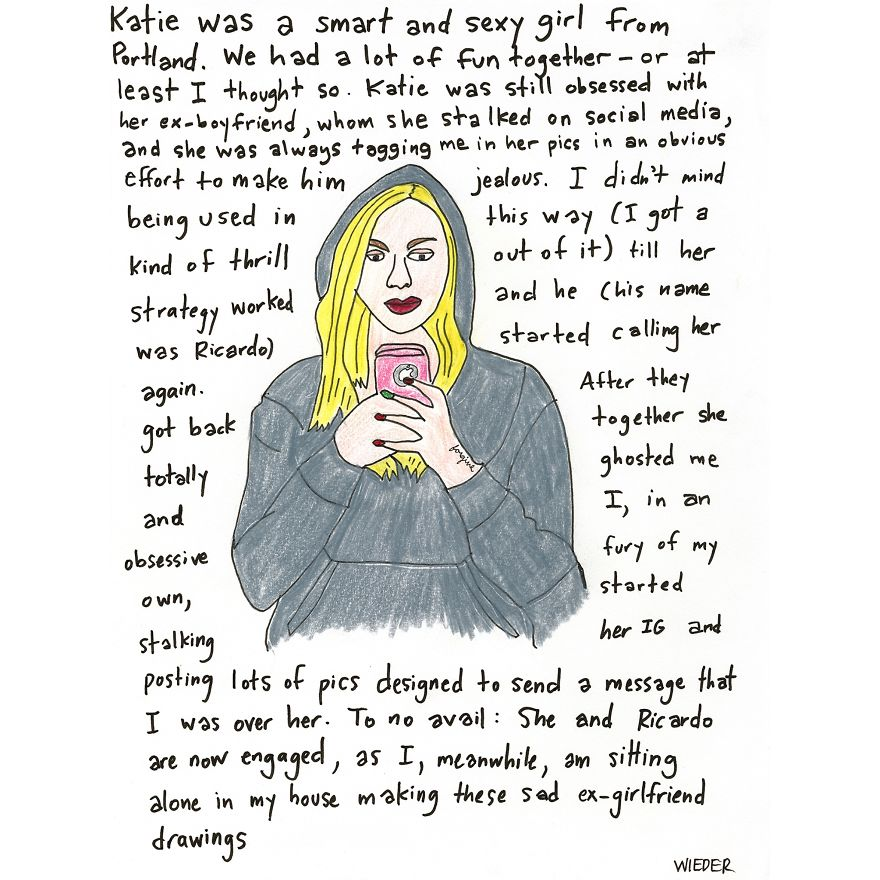 I Drew 16 Portraits Of My Ex-Girlfriends