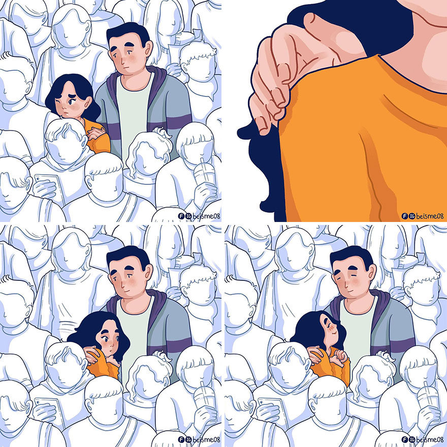 Illustrator Shows In Lovely Drawings What It Is To Be Truly In Love