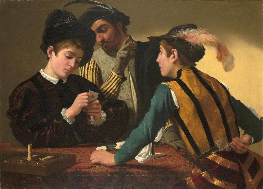 Cardsharps, Caravaggio, 1594