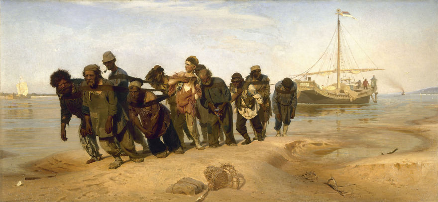 Barge Haulers On The Volga, Ilya Repin, 1873