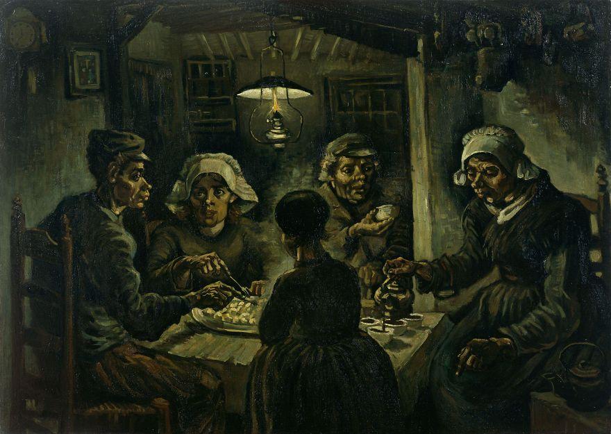 The Potato Eaters, Vincent Van Gogh, 1885