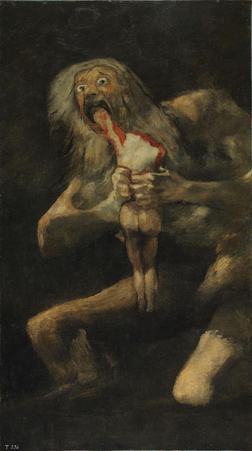 Saturn Devouring His Son, Francisco Goya, 1823