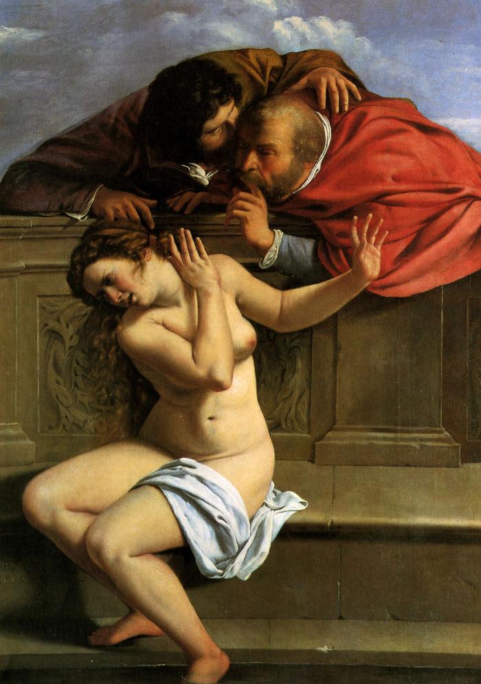 Susanna And The Elders, Artemisia Gentileschi, 1610