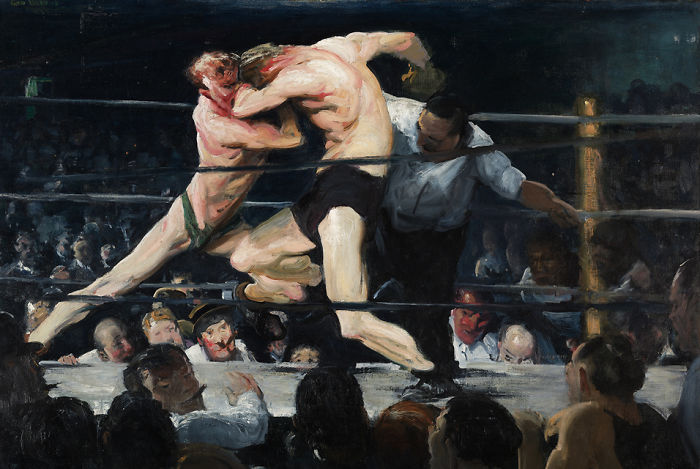 Stag Night At Sharkey's, George Wesley Bellows, 1909