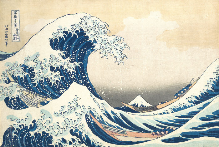The Great Wave Off Kanagawa, Katsushika Hokusai, 1829 – 1833