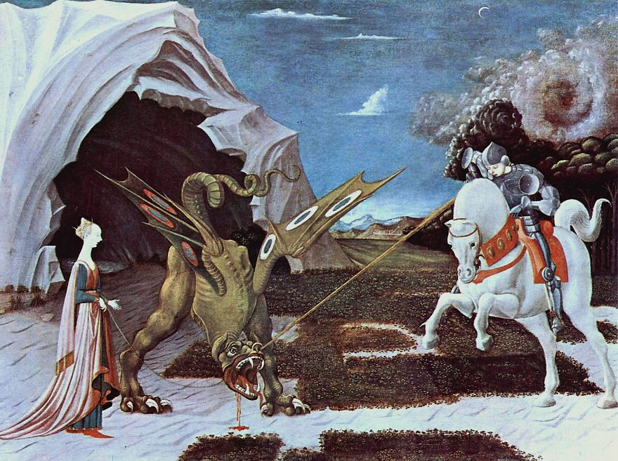 St. George And The Dragon, Paolo Uccello, 1470