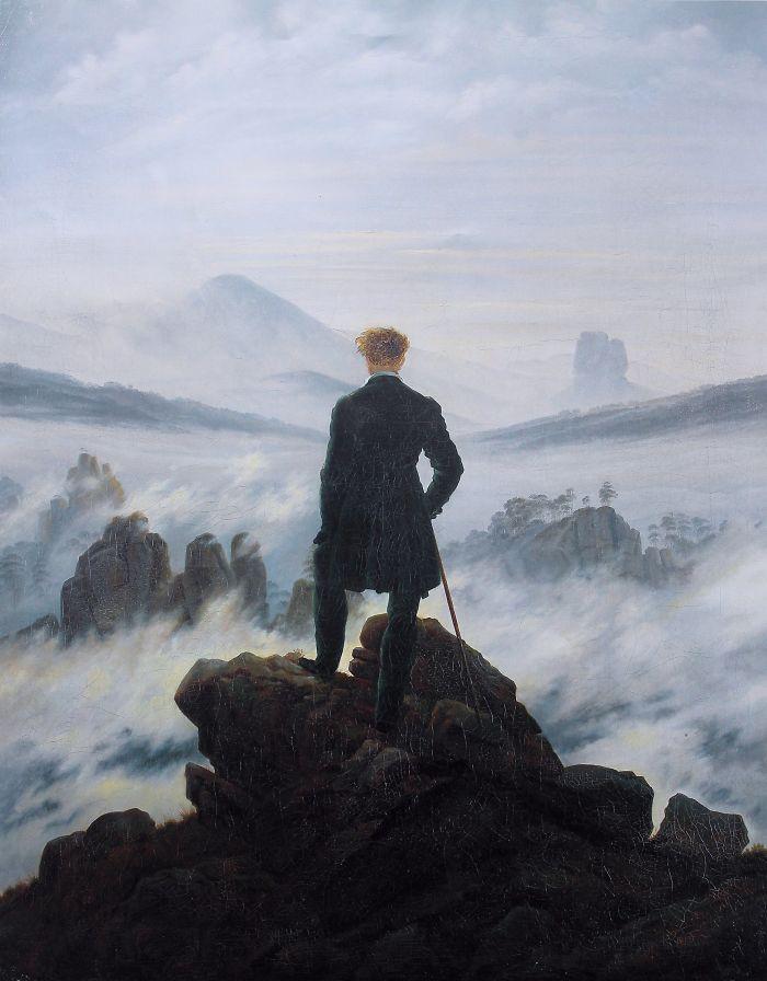 Der Wanderer Über Dem Nebelmeer, Caspar David Friedrich, 1818