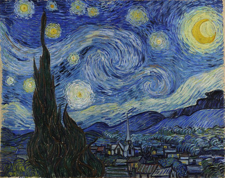 Starry Night, Vincent Van Gogh, 1889