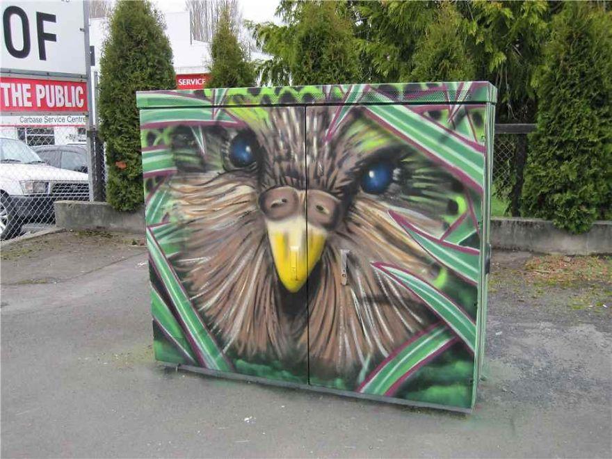 Flightless Kakapo Parrot By Jack Pillans