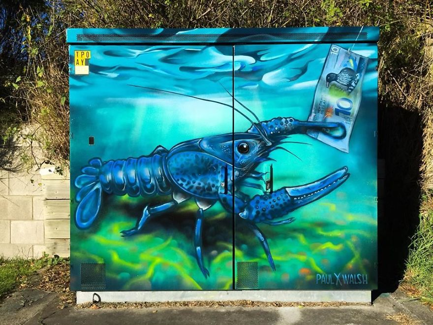 Rare Blue Koura (Crayfish) By Paul Walsh