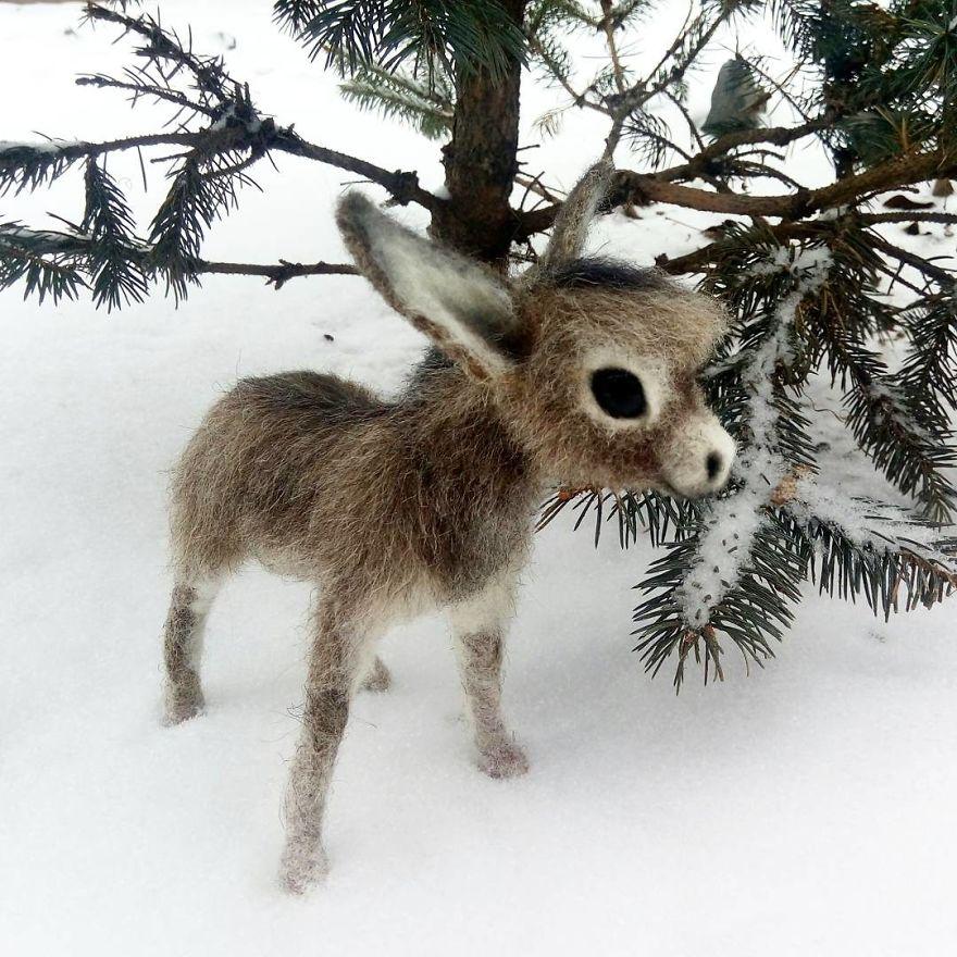 Войлочные шерстяные животные