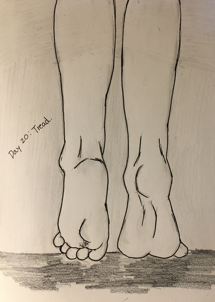 Day 20: Tread, My First Time Drawing Feet